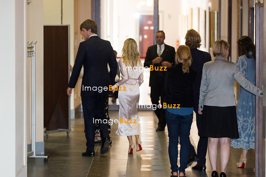 Mariage civil du Prince Ernst junior de Hanovre et de Ekaterina Malysheva, &agrave; l' h&ocirc;tel de ville de Hanovre.<br /> Allemagne, Hanovre, 6 juillet 2017.<br /> Civil wedding of Prince Ernst Junior of Hanover and Ekaterina Malysheva at the new Town Hall in Hanover.<br /> Germany, Hannover, 6 july 2017<br /> Pic :  Prince Ernst Junior of Hanover and Ekaterina Malysheva , Prince Andrea Casiraghi &amp; wife Tatiana Santo Domingo