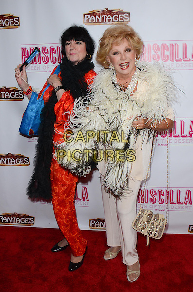 Jo Anne Worley, Ruta Lee<br /> Tony Award-Winning Broadway Musical 'Priscilla Queen Of The Desert&quot; celebrates its L.A. Premiere at Pantages Theatre, Hollywood, California, USA.<br /> May 29th, 2013<br /> full length red white suit feathers black<br /> CAP/ADM/TW<br /> &copy;Tonya Wise/AdMedia/Capital Pictures