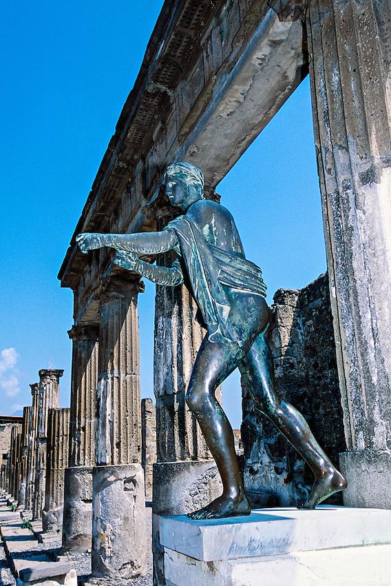 Temple of Apollo (Tempio di Apollo), Pompeii Archaeological site, near Naples, Italy