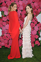 Laura Pradelska and Louisa Connolly-Burnham at the Remembering Audrey Hepburn charity gala celebrating the life of the late actress, Royal Lancaster Hotel, Lancaster Terrace, London, England, UK, on Saturday 06 October 2018.<br /> CAP/CAN<br /> &copy;CAN/Capital Pictures