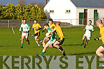 Ballyduff's John Paul Leahy is put under pressure by Emmet's  Connor Cox (no13) and Ger McCarthy(no5)