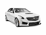 2016 Cadillac CTS-V Sedan Luxury sports car isolated on white background with clipping path