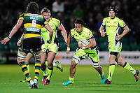 TJ Ioane of Sale Sharks in possession. Aviva Premiership match, between Northampton Saints and Sale Sharks on December 23, 2016 at Franklin's Gardens in Northampton, England. Photo by: Patrick Khachfe / JMP