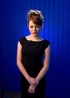 Emma Stone is photographed at the Santa Monica Pier in Santa Monica, Calif., on Thursday, Sep. 24, 2009..