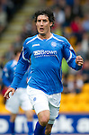 St Johnstone FC Season 2010-11.Francisco Sandaza.Picture by Graeme Hart..Copyright Perthshire Picture Agency.Tel: 01738 623350  Mobile: 07990 594431