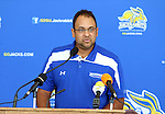 BROOKINGS, SD - AUGUST 11: Phil McDaniel<br /> Head Coach of South Dakota State University Women's Volleyball, addresses the media Monday afternoon at the Jacks Media Day in Brookings. (Photo by Dave Eggen/Inertia)
