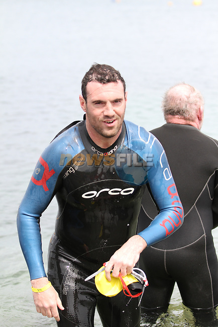 "at the Clogherhead ""Round the Head Swim""....(Photo credit should read Jenny Matthews/NEWSFILE)..."