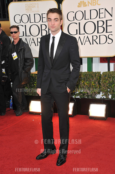 Robert Pattinson at the 70th Golden Globe Awards at the Beverly Hilton Hotel..January 13, 2013  Beverly Hills, CA.Picture: Paul Smith / Featureflash