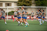 Seattle, Washington - Saturday, July 2nd, 2016:  Boston Breakers prepare for a regular season National Women's Soccer League (NWSL) match against the Seattle Reign FC at Memorial Stadium. Seattle won 2-0.