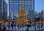 Skating Rink and Holiday Tree at PPG Place, Pittsburgh, Pennsylvania