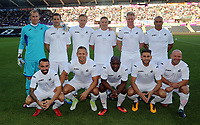 Swansea Legends team during the Swansea Legends v Manchester United Legends at The Liberty Stadium, Swansea, Wales, UK. Wednesday 09 August 2017