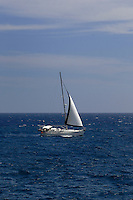 Yacht sailing of the coast, El Medano, Tenerife, Canary Islands