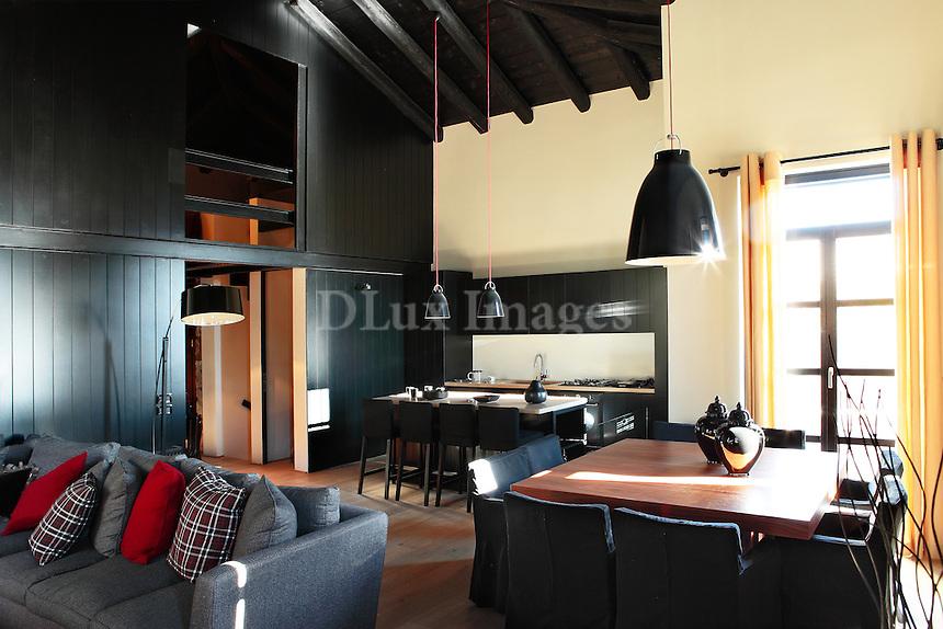 rustic wooden living room