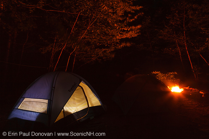 Tents in campground...Located in the White Mountains, New Hampshire  USA.