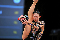 Alina Maksymenko of Ukraine performs at 2010 World Cup at Portimao, Portugal on March 13, 2010.  (Photo by Tom Theobald).