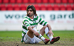 St Johnstone v Celtic.....12.04.11.Georgios Samaras .Picture by Graeme Hart..Copyright Perthshire Picture Agency.Tel: 01738 623350  Mobile: 07990 594431
