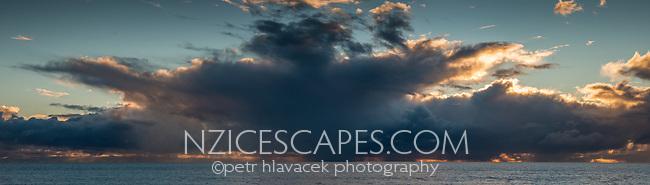Stormy clouds over Tasman Sea, Westland Tai Poutini National Park, UNESCO World Heritage Area, West Coast, New Zealand, NZ