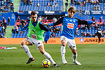 Takashi Inui of SD Eibar (R) Warming up with his teammate Ivan Ramis Barrios (L) during the La Liga 2017-18 match between Getafe CF and SD Eibar at Coliseum Alfonso Perez Stadium on 09 December 2017 in Getafe, Spain. Photo by Diego Souto / Power Sport Images