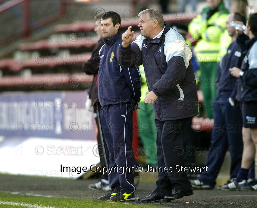 17/02/2007       Copyright Pic: James Stewart.File Name : sct_jspa12_dunfermline_v_kilmarnock.KILMARNOCK'S JIM JEFFRIES SHOUTS HIS INSTRUCTIONS....James Stewart Photo Agency 19 Carronlea Drive, Falkirk. FK2 8DN      Vat Reg No. 607 6932 25.Office     : +44 (0)1324 570906     .Mobile   : +44 (0)7721 416997.Fax         : +44 (0)1324 570906.E-mail  :  jim@jspa.co.uk.If you require further information then contact Jim Stewart on any of the numbers above.........