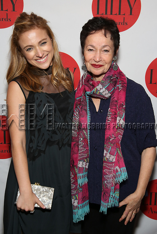 Christy Altomare and Lynn Ahrens attends The Lilly Awards Broadway Cabaret at the Cutting Room on October 17, 2016 in New York City.