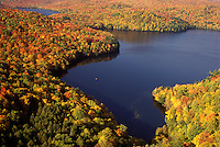 AJ1018, Vermont, A spectacular view of Nichols Pond in the fall from Nichols Ledge in Woodbury.