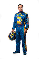 Feb 6, 2019; Pomona, CA, USA; NHRA funny car driver Ron Capps poses for a portrait during NHRA Media Day at the NHRA Museum. Mandatory Credit: Mark J. Rebilas-USA TODAY Sports
