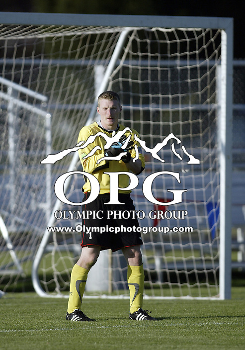23 May 2009:   Kitsap Pumas goal keeper Floyd Croll gets set in the keeper box against the Casecade Surge at Memorial Stadium in Bremerton, WA.  The Kitsap Pumas won 3-0 over the Surge.