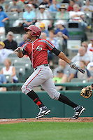 Altoona Curve outfielder Willy Garcia (24) during game against the Trenton Thunder at ARM & HAMMER Park on August 6, 2014 in Trenton, NJ.  Trenton defeated Altoona 7-3.  (Tomasso DeRosa/Four Seam Images)