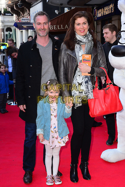 LONDON, ENGLAND - FEBRUARY 2: Amanda Lamb &amp; family attends Mr Peabody And Sherman 3D VIP gala screening at Vue West End (Leicester Square), 3 Cranbourn Street, on February 2, 2014, in London, England.  <br /> CAP/JOR<br /> &copy;Nils Jorgensen/Capital Pictures
