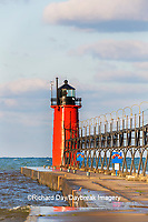 64795-02610 South Haven Lighthouse early morning South Haven,  MI