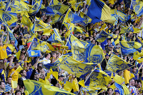 18.04.2015. Clermont-Ferrand, Auvergne, France. Champions Cup rugby semi-final between ASM Clermont and Saracens.   Supporters (asm)