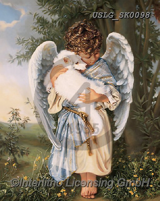 CHILDREN, KINDER, NIÑOS, paintings+++++,USLGSK0098,#K#, EVERYDAY ,Sandra Kock, victorian ,angels