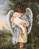 CHILDREN, KINDER, NIÑOS, paintings+++++,USLGSK0098,#K#, EVERYDAY ,Sandra Kock, victorian ,angels