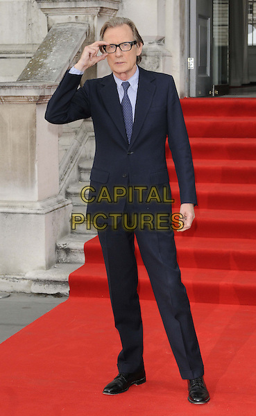 Bill Nighy<br /> The &quot;About Time&quot; UK film premiere to open Somerset House's Film4 season of outdoor cinema, Somerset House, the Strand, London, England.<br /> August 8th, 2013<br /> full length black blue purple suit tie glasses hand arm <br /> CAP/CAN<br /> &copy;Can Nguyen/Capital Pictures