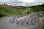 The peloton in action during Stage 4 of the 2019 Giro d'Italia, running 235km from Orbetello to Frascati, Italy. 14th May 2019<br /> Picture: Fabio Ferrari/LaPresse | Cyclefile<br /> <br /> All photos usage must carry mandatory copyright credit (© Cyclefile | Fabio Ferrari/LaPresse)