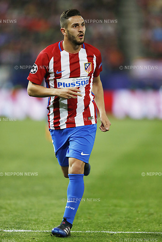 Koke (Atletico), MARCH 15, 2017 - Football / Soccer : UEFA Champions League round of 16 2nd leg match between Club Atletico de Madrid 0-0 Bayer 04 Leverkusen at the Vicente Calderon Stadium in Madrid, Spain. (Photo by Mutsu Kawamori/AFLO) [3604]