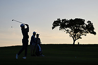 Morgan Hoffman (USA) watches his approach shot on 10 during day 2 of the Valero Texas Open, at the TPC San Antonio Oaks Course, San Antonio, Texas, USA. 4/5/2019.<br /> Picture: Golffile | Ken Murray<br /> <br /> <br /> All photo usage must carry mandatory copyright credit (© Golffile | Ken Murray)