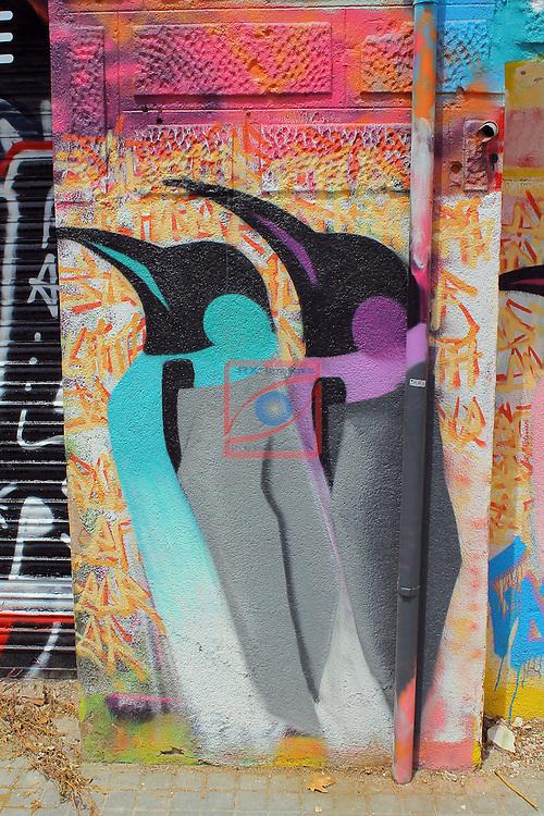 Street Art-Graffittis.<br /> Barcelona, carrer del Marroc, Poblenou.