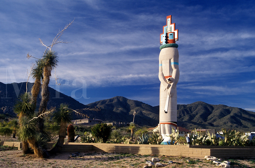 This giant COCHINA D0LL overlooks the golf development of DESERT MOUNTAIN - SCOTTSDALE, ARIZONA