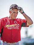 9 March 2014: St. Louis Cardinals outfielder Peter Bourjos prepares for batting practice prior to a Spring Training game against the Washington Nationals at Space Coast Stadium in Viera, Florida. The Nationals defeated the Cardinals 11-1 in Grapefruit League play. Mandatory Credit: Ed Wolfstein Photo *** RAW (NEF) Image File Available ***