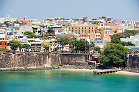 Old San Juan, Puerto Rico as seen from the harbor.