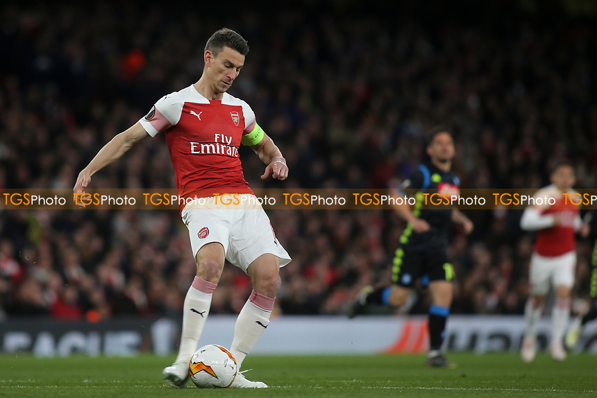Laurent Koscielny of Arsenal in action during Arsenal vs Napoli, UEFA Europa League Football at the Emirates Stadium on 11th April 2019