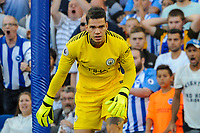 Ederson  during the EPL - Premier League match between Brighton and Hove Albion and Manchester City at the American Express Community Stadium, Brighton and Hove, England on 12 August 2017. Photo by Edward Thomas / PRiME Media Images.