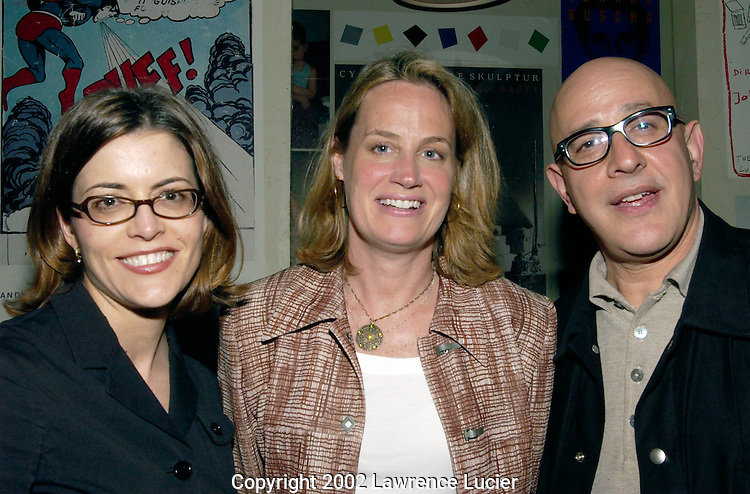 Flip Productions director of international operations Liselle Feingold (L) and Laurie Gershon appear at the Variety Film Fest Party May 6, 2002 in New York City..