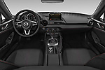 Stock photo of straight dashboard view of a 2019 Mazda MX-5 RF Club 2 Door Targa