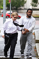Pictured: Peter Shodeinde arrives at Cardiff Crown Court, Cardiff, Wales, UK. Friday 27 September 2019