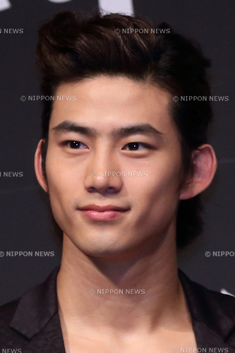 Taecyeon(2PM), Ap12, 2012 : K-pop group 2PM, Taecyeon attends korean foods company 'Sempio' TV CM launch in Japan, 12 Apr 2012 Tokyo Japan