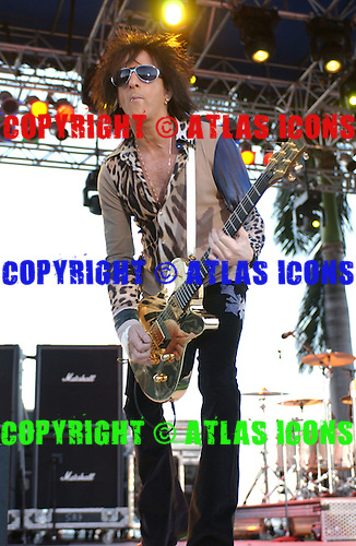 Billy Idol live in concert at Sunfest held on Flagler Drive in downtown West Palm Beach FL, 4-29-05...