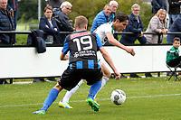 GRONINGEN - Voetbal, FC Groningen O23 - ACV, derde divisie, seizoen 2017-2018, 16-09-2017, FC Groningen speler David Browne in duel met ACV speler Haaye Feenstra