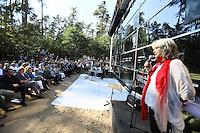 Ansprache von Cornelia Rühling (Vorsitzende Margit Horvat Stiftung) bei der Eröffnung der Lern- und Gedenkstätte auf dem Gelände des ehemaligen KZ Außenlager Walldorf